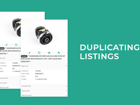 Duplicating Listings