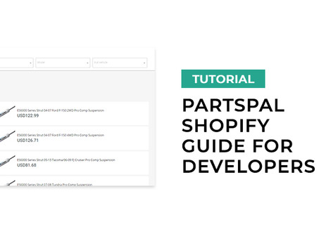Guide to PartsPal Shopify Integration for developers