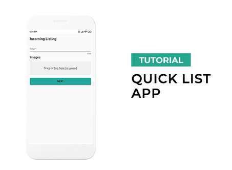 Quick List App tutorial