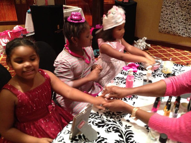 Spa Pink and Black Party