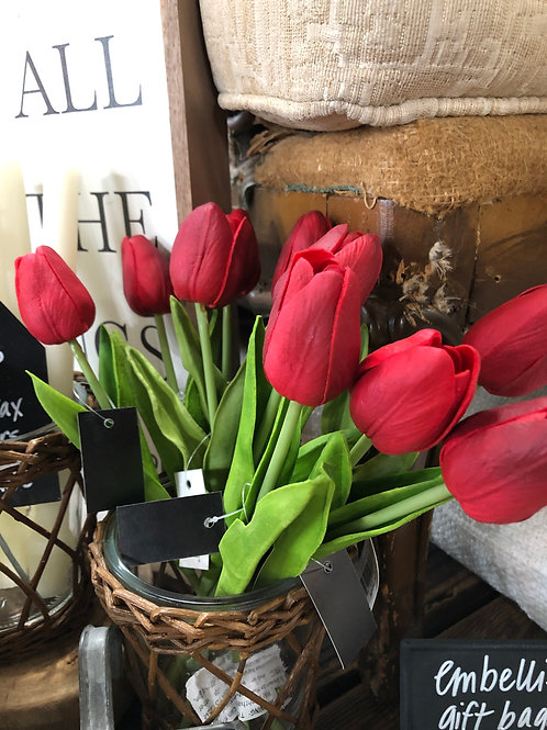 real touch tulips, 10 inch