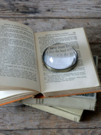 paperweight / magnifying glass