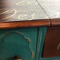 spinet desk detail