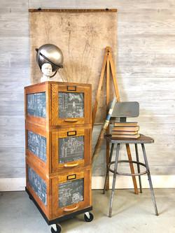 vinage file cabinet