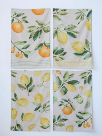 tea towels w/ citrus fruit