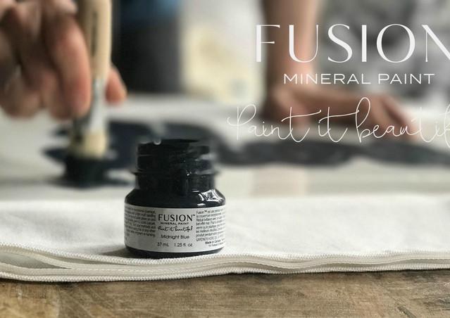 fusion fabric stenciling