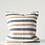 Thumbnail: cotton woven stripe pillow