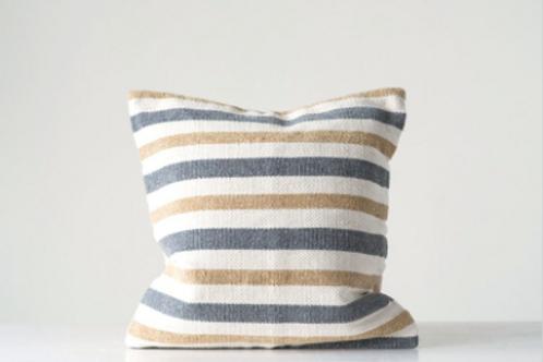 cotton woven stripe pillow