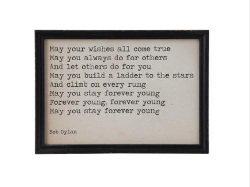 wishes framed art