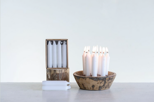 short taper candles in box