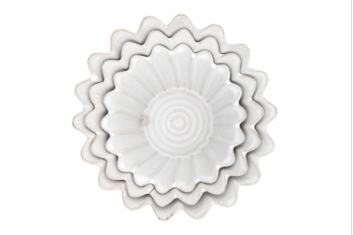 fluted white planter