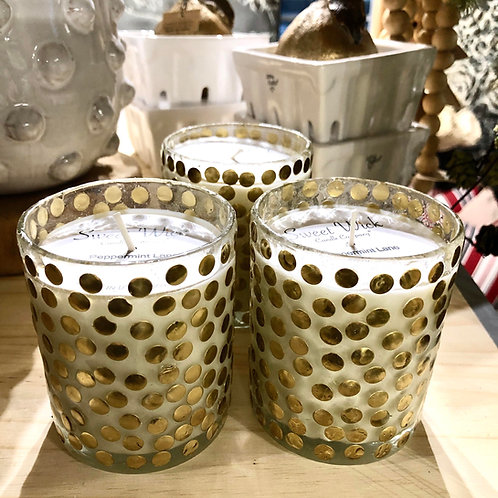 sweetwick gold dot votive