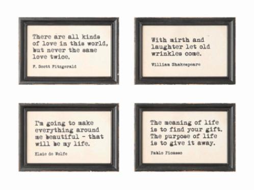 wood framed sayings