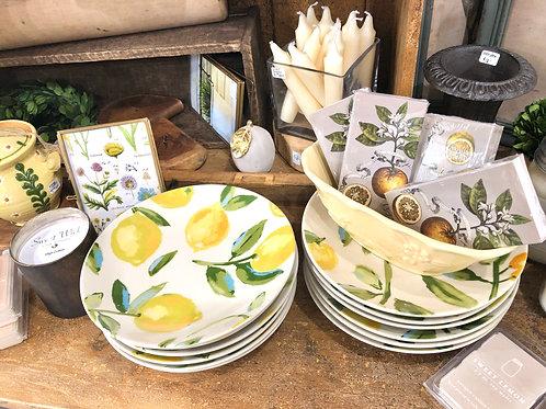 citrus plates, 4 styles