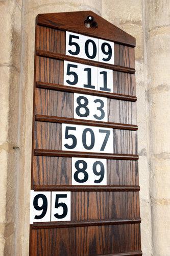 Hymn Numbers Black Numbers