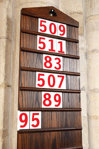 hymn numbers, church numbers, pvc numbers, letters