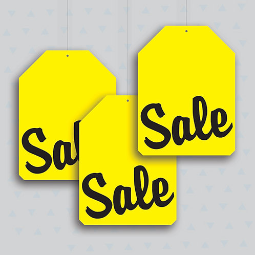 black friday hanging signs, shop window display
