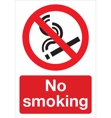 no smoking sticker, health and safety signage
