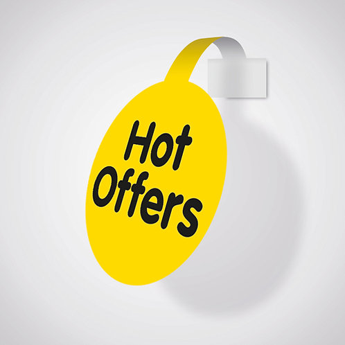 shelf wobblers, shelf talkers, hot offers