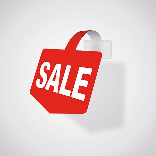 shelf wobbler, shelf talker, sale