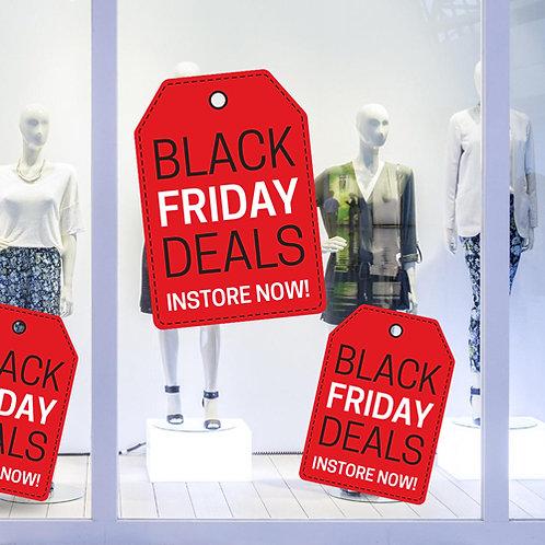 black friday deals tag window sticker