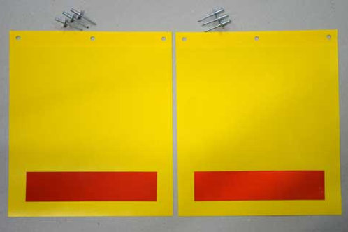 Tail Lift Warning Flags Blank Yellow One Pair Graphics Uk