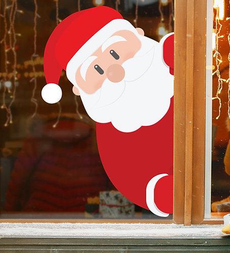 santa window stickers, christmas decorations