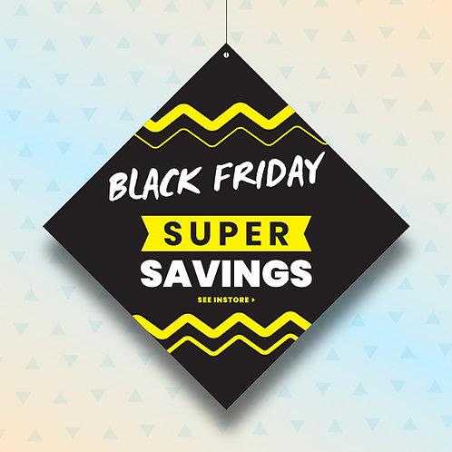 black friday, sales, hanging signs, window displays
