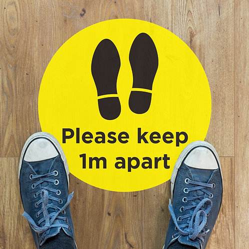 social distancing please keep 1 metres apart floor stickers