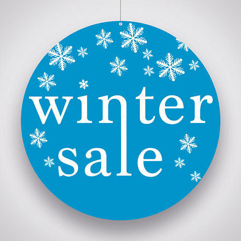 Winter Sale Hanging Signs