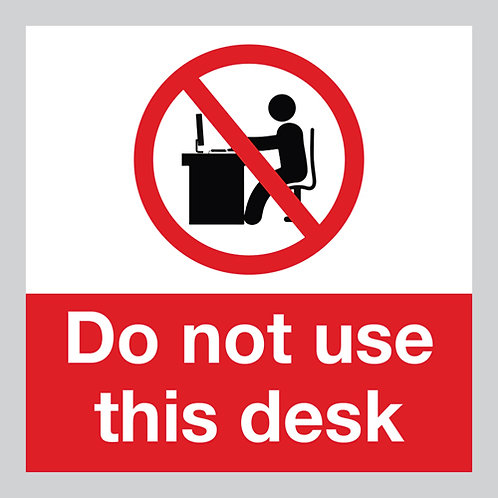 do not use this desk social distancing sticker