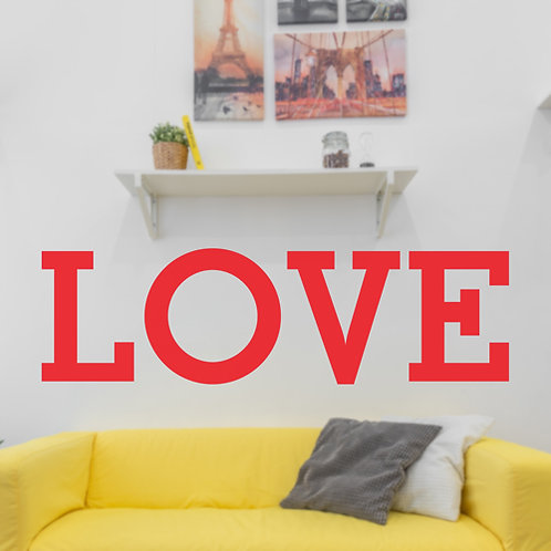 love letters, vinyl wall stickers