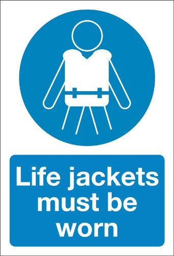 life jackets must be worn, health and safety