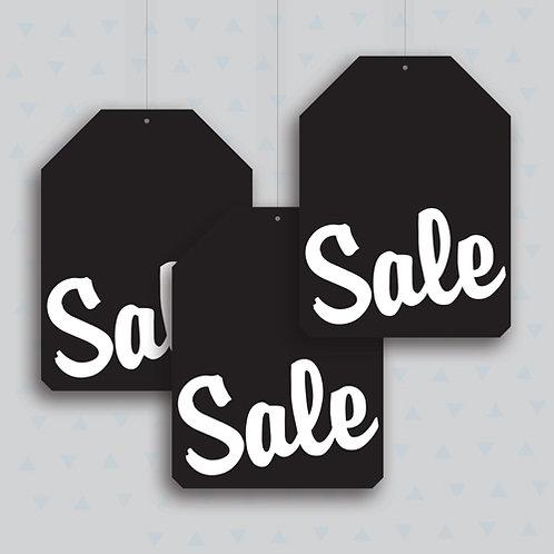 black friday hanging signs, shop window display