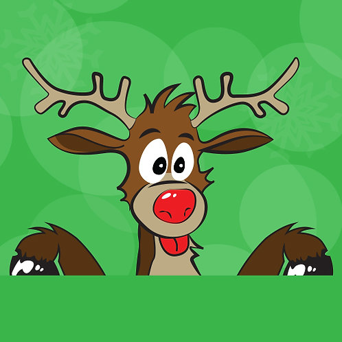 christmas decorations, reindeer window stickers