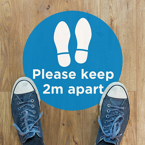 social distancing please keep 2 metres apart floor stickers graphics