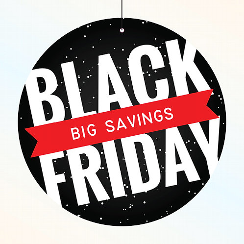 black friday, sales, hanging signs, window displays