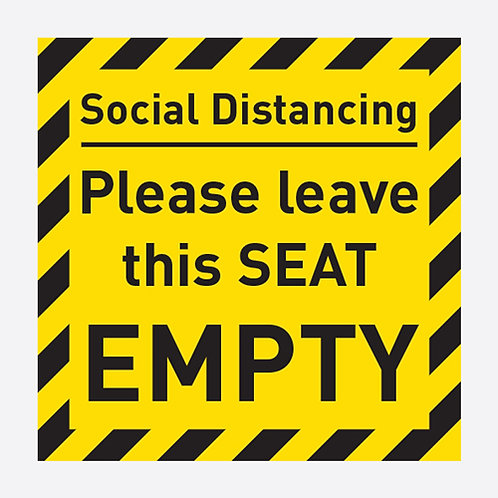 Social Distancing Please Leave This Seat Empty Sticker
