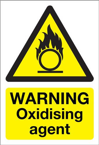 warning oxidising agent, health and safety