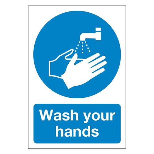 wash your hands, sticker