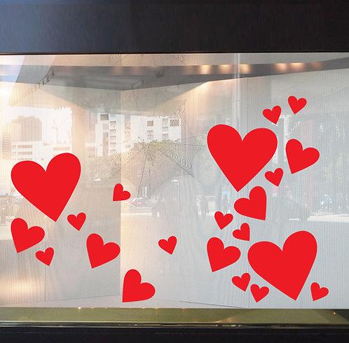 valentine day hearts, vinyl stickers