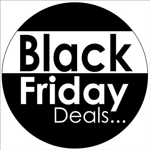 black friday window stickers, window displays, self cling