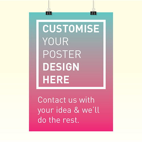 design your own poster, customise design poster