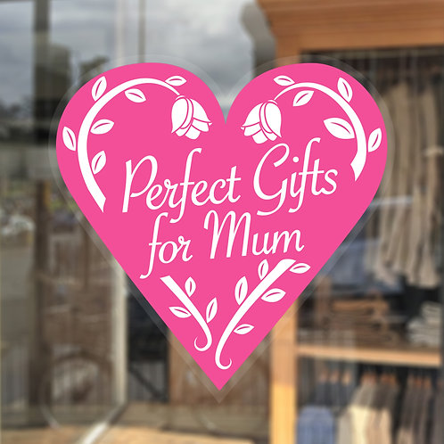 perfect gift for mum, mothers day window sticker