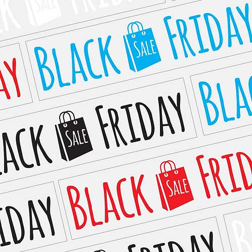black friday window stickers, sales, offers, discounts, window display