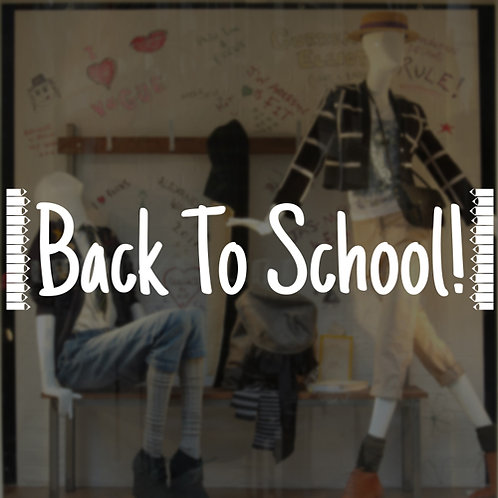 back to school window stickers, window displays