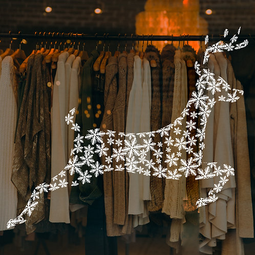 christmas reindeer window decoration sticker