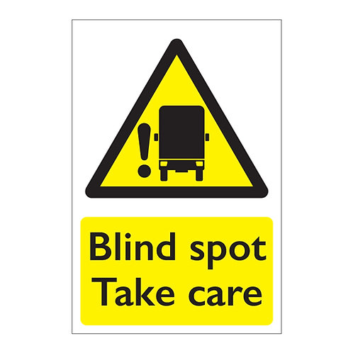 blind spot take care vehicle lorry sign