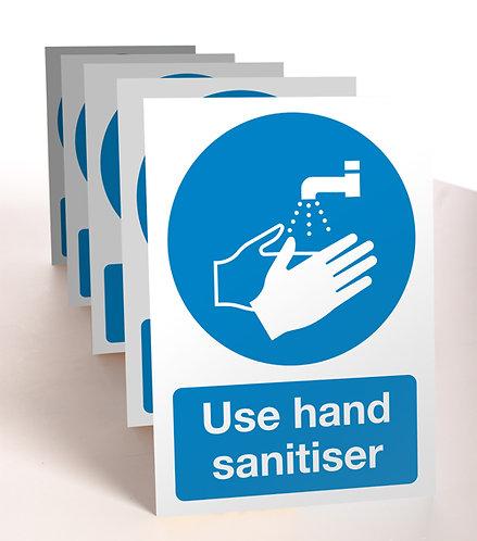 use hand sanitiser strut cards counter display
