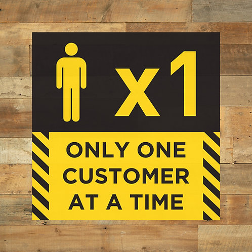 social distancing only one customer at a time floor stickers